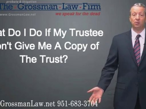 What Do I Do If My Trustee Won't Give Me A Copy Of The Trust?