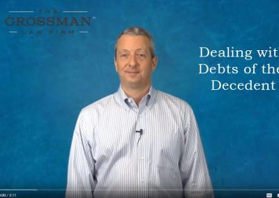 Dealing with debts of the decedent