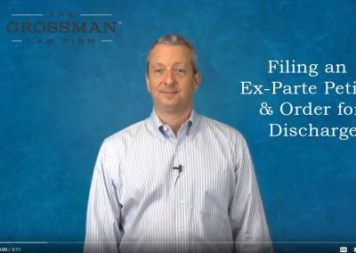 Filing an ex parte petition & order for discharge