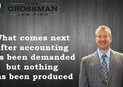What comes after accounting demanded but nothing has been produced